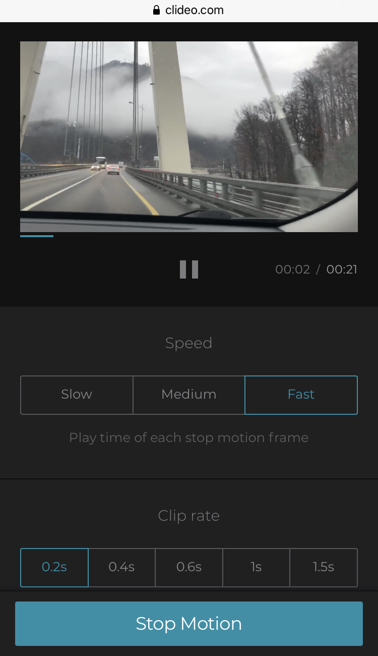 Change stop motion video speed on iPhone