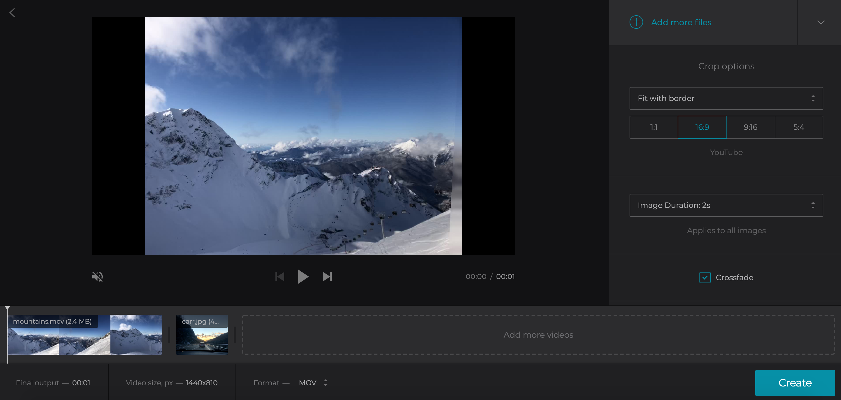 Set the duration for all images in YouTube video