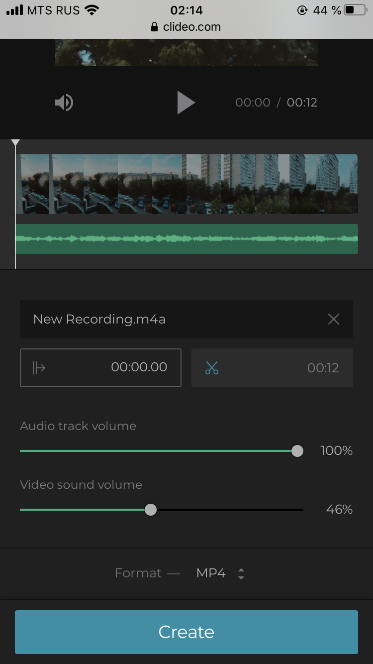 Change volume of the iPhone video and audio