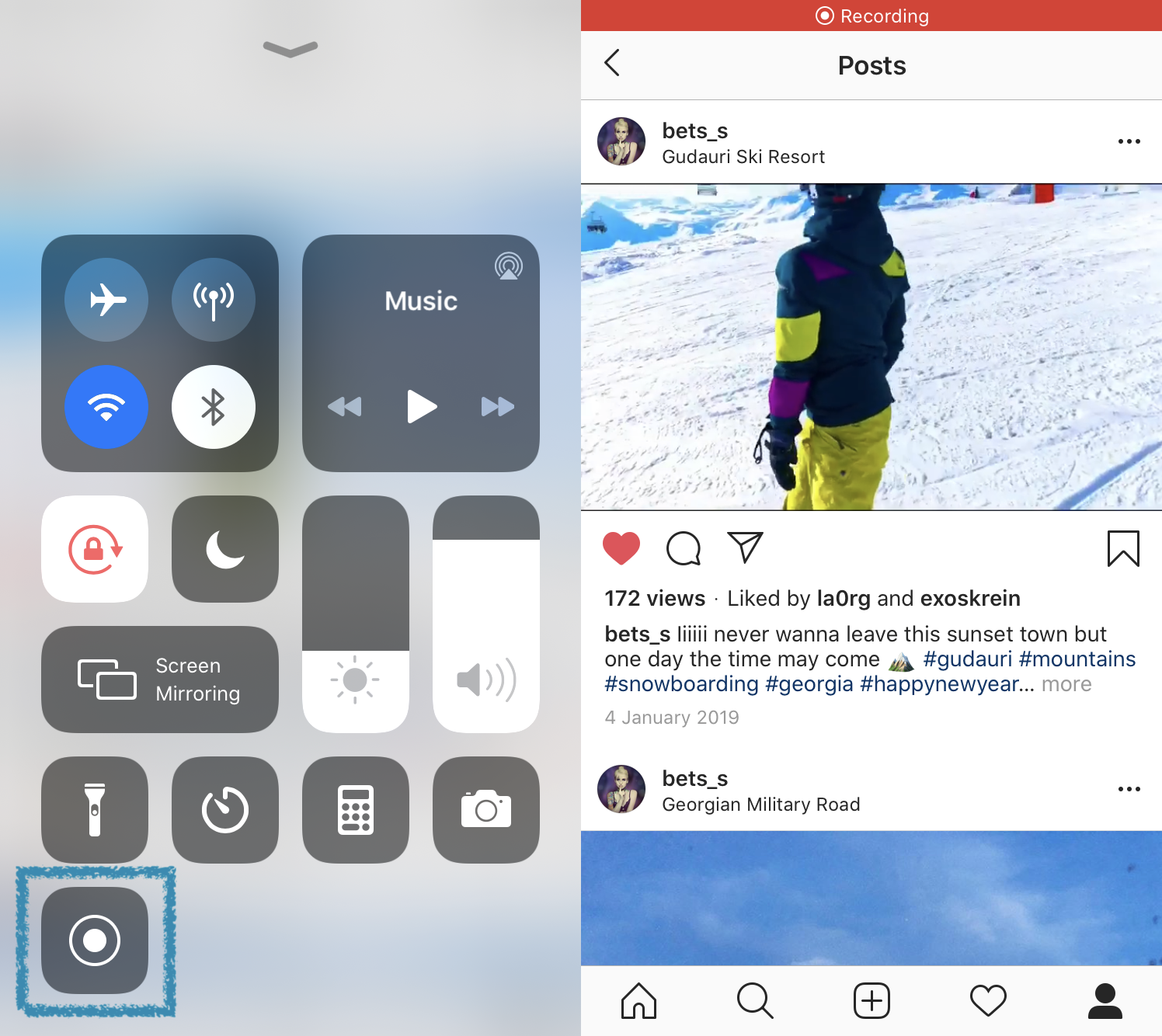 Capture Instagram video with one click