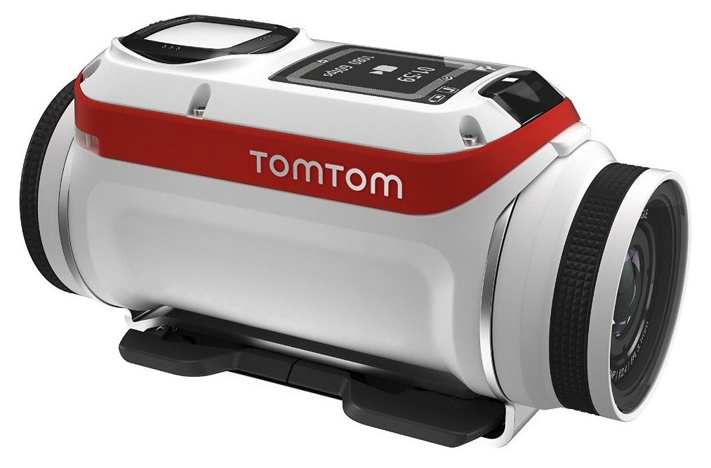 White version of cheap action camera TomTomBandit