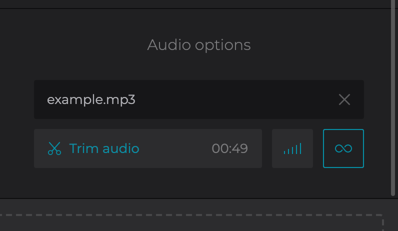 Trim audio for joined FLV