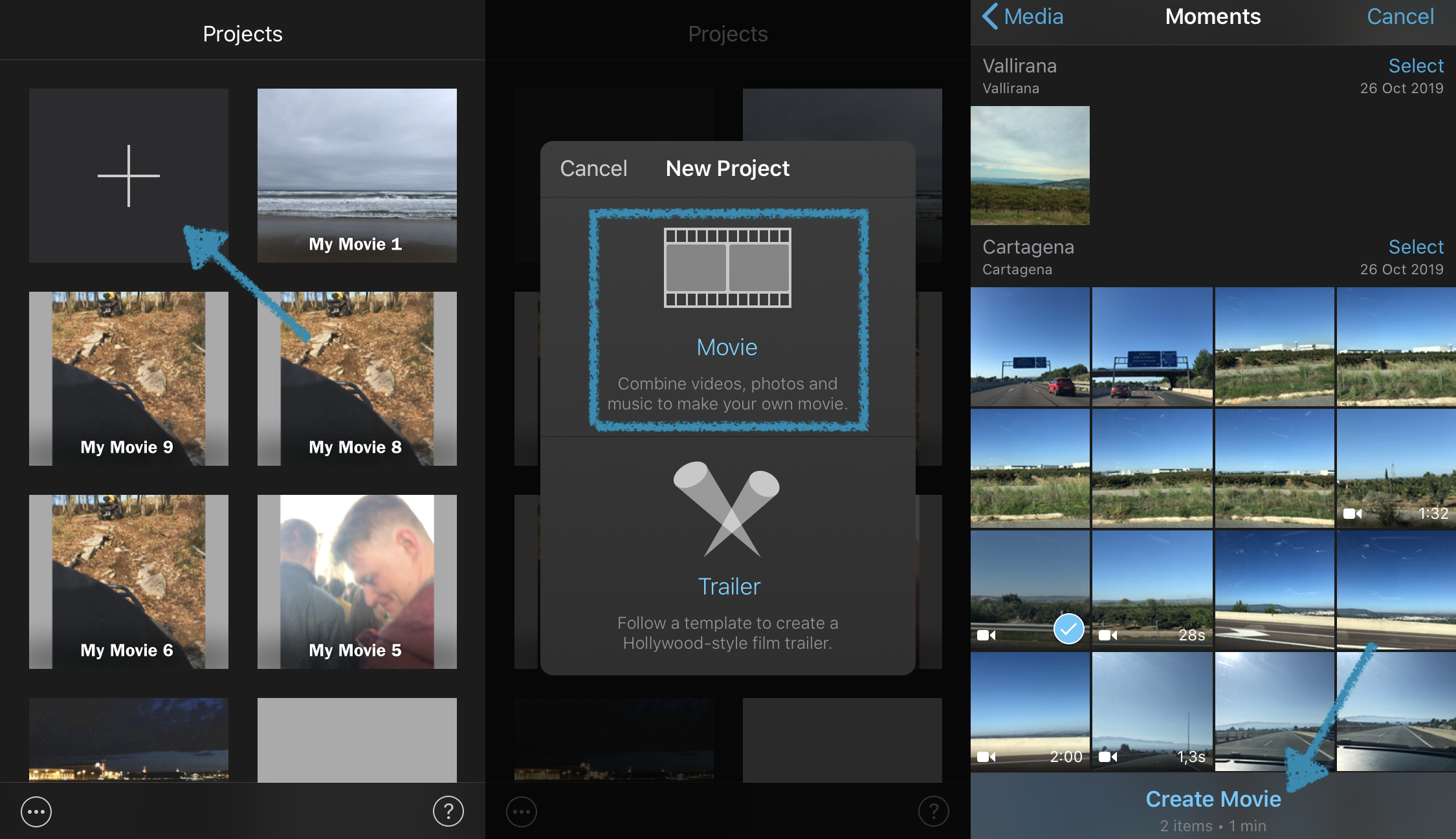 Add an iPhone video to iMovie for muting