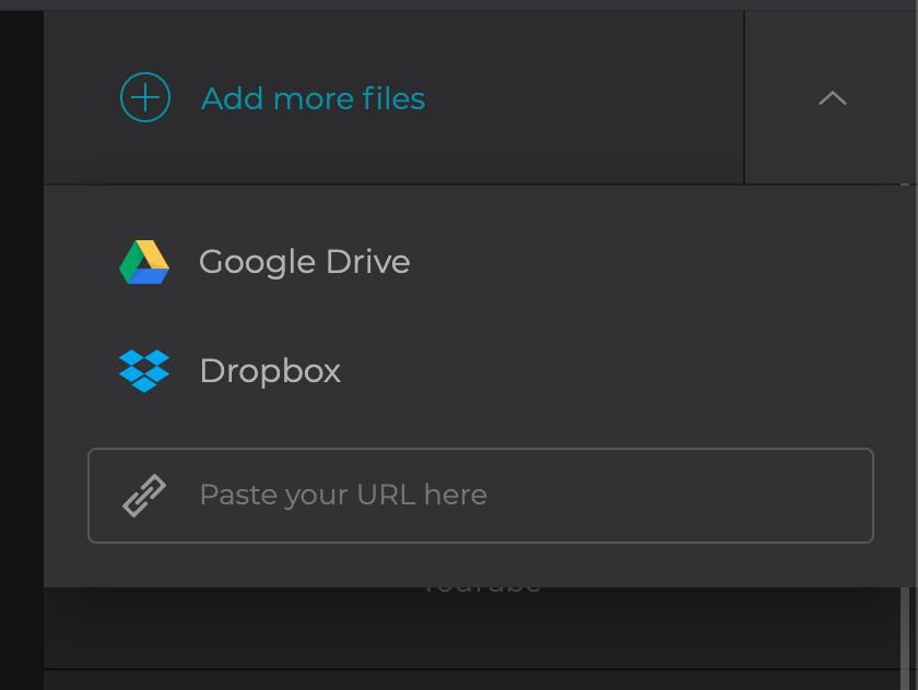 Add more photo and video files if necessary
