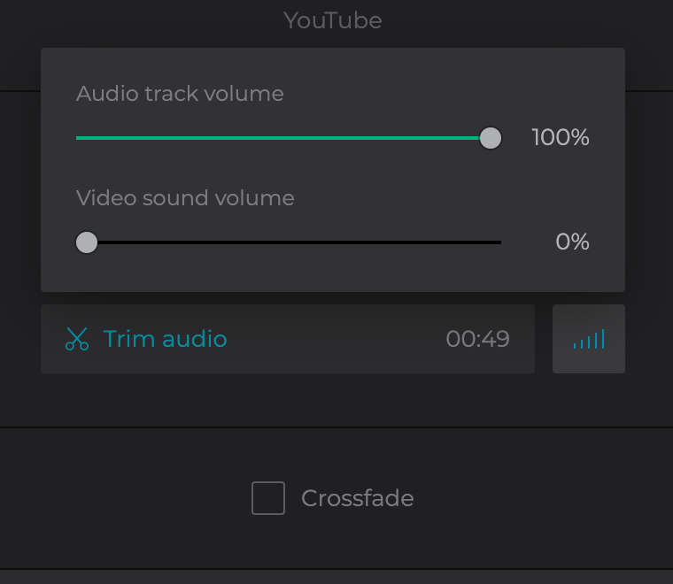 Check the box to add crossfade effect to the created video