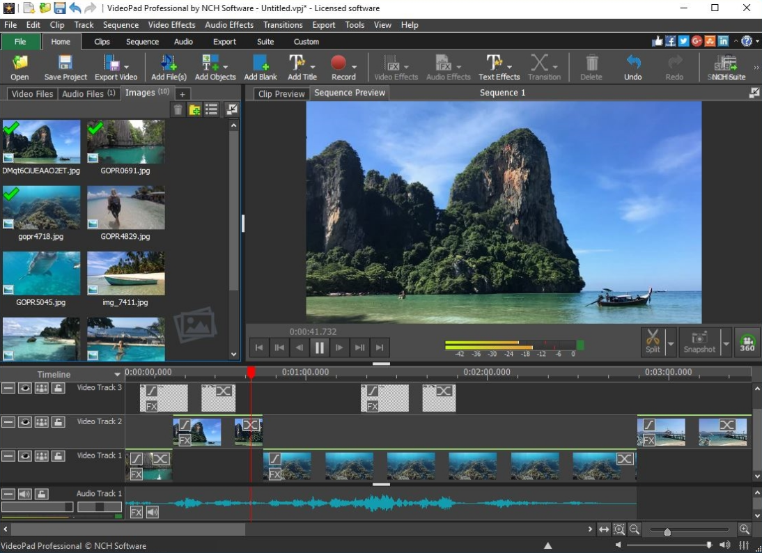 Features of the simple and free video editing software VideoPad