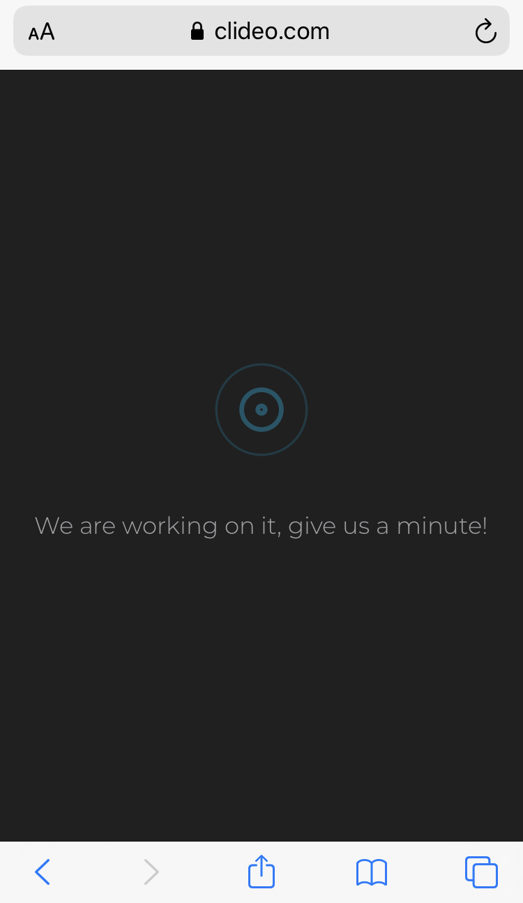 Wait a few moments for iPhone video to be compressed