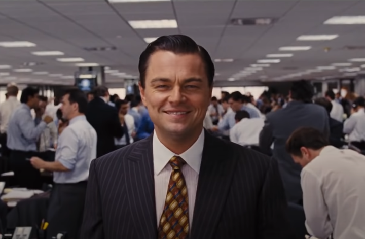 The Wolf of Wall Street eye shot example